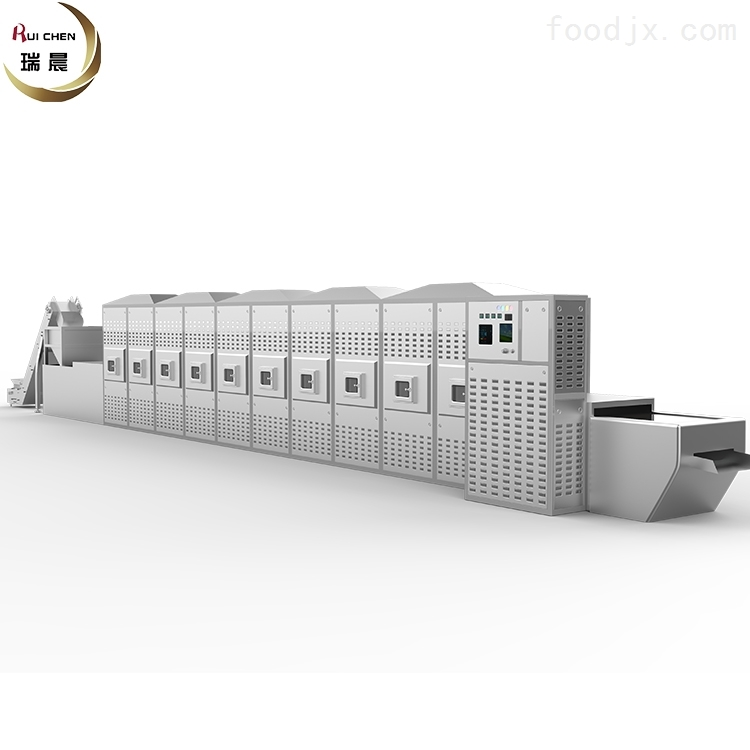瑞晨30KW连续式微波烤虾机厂家
