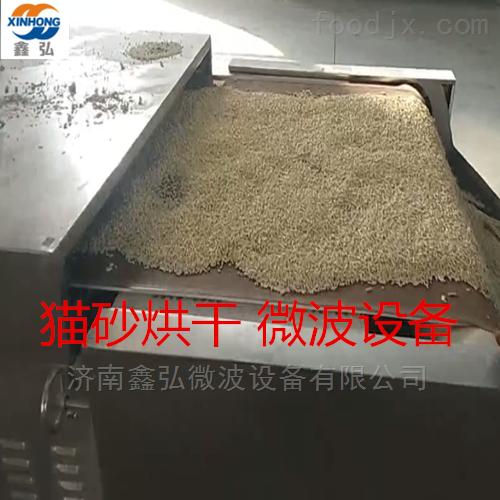 猫砂微波烘干设备 猫砂生产线