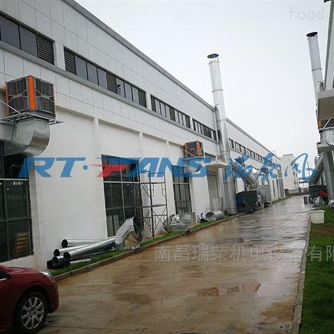 夏季工厂如何降温-瑞泰风冷风机
