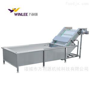 WLYQX-5000全自动气泡果蔬清洗机软包装清洗风干流水线