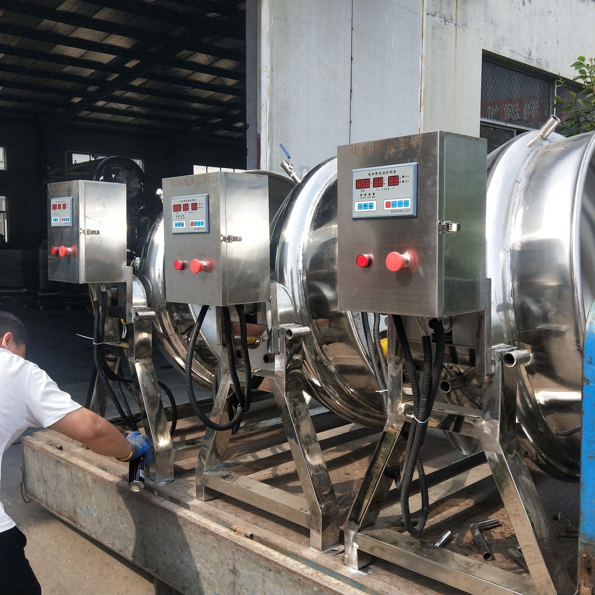厂家生产全自动燃气加热带搅拌行星炒锅