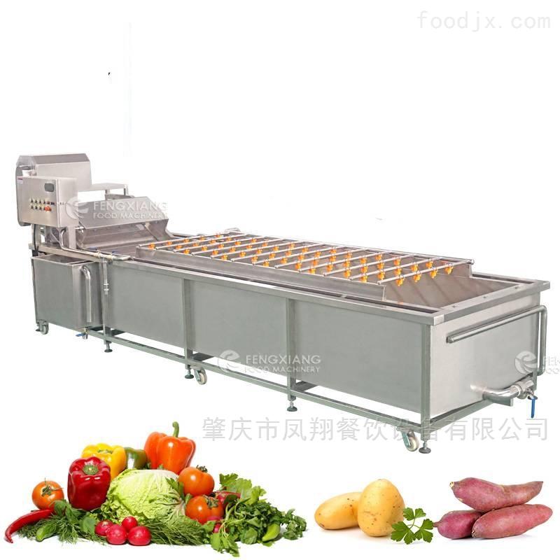 凤翔 大型洗菜机果蔬汽泡喷淋式清洗机