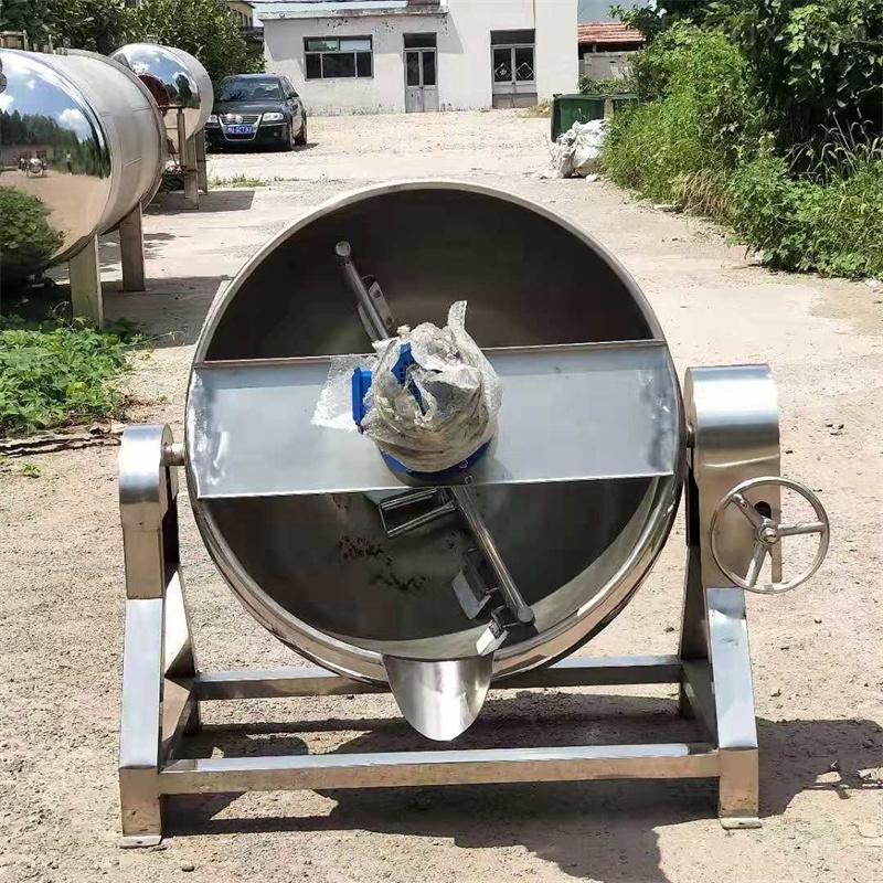 厂家生产蒸汽加热搅拌式可倾夹层锅