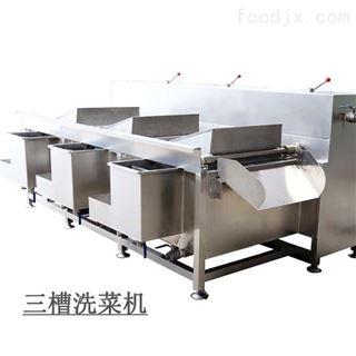 DY-FD170-3果蔬清洗设备 三槽翻斗清洗机 三槽洗菜机