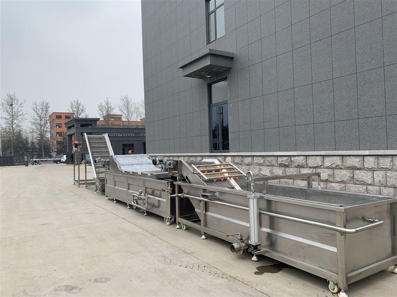 果蔬加工設備為萊蕪客戶安裝完成