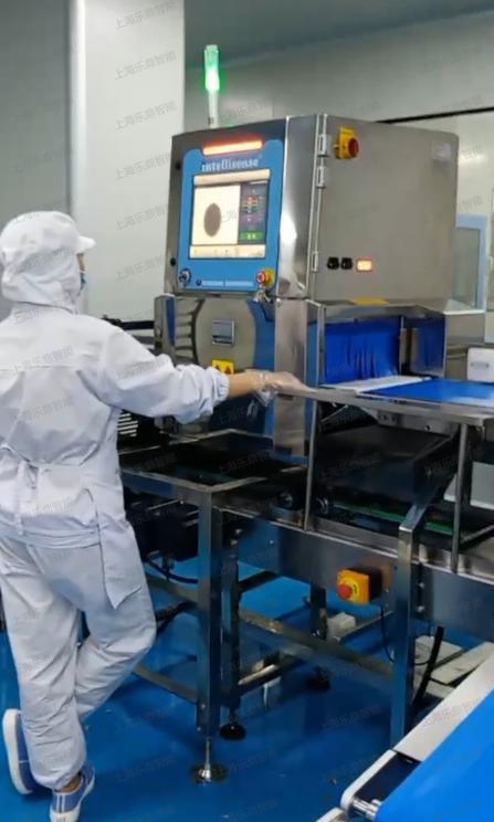 食品X射线异物检测机X光机输送线检测五仁大月饼